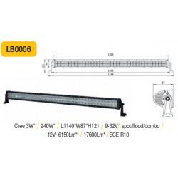 Sunkvežimio LED žibintas ant stogo tvirtinamas varžtais 240W 1210mmx120x120