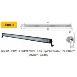 Truck LED žibintas ant stogo tvirtinamas varžtais 1360mm