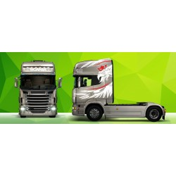 Sunkvežimio reklaminis lipdukas V6 Scania Green Art