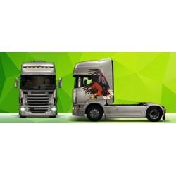 Sunkvežimio reklaminis lipdukas V42 Scania Green Art