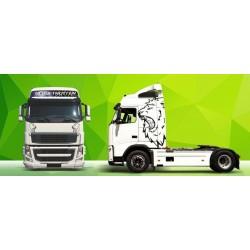 Sunkvežimio reklaminis lipdukas V5 Volvo Green Art