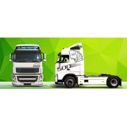 Sunkvežimio reklaminis lipdukas V18 Volvo Green Art