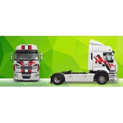 Sunkvežimio reklaminis lipdukas V4 Renault Premium Green Art