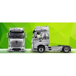 Sunkvežimio reklaminis lipdukas V2 Mercedes Actros Green Art