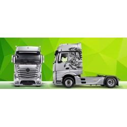 Sunkvežimio reklaminis lipdukas V4 Mercedes Actros Green Art