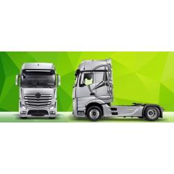 Sunkvežimio reklaminis lipdukas V7 Mercedes Actros Green Art