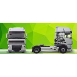 Sunkvežimio reklaminis lipdukas V28 DAF Green Art