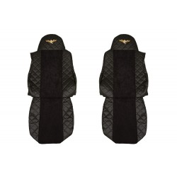 Sėdynių užvalkalai DAF XF95/105 -2012m FX04 Elegance serija juodi