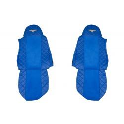 Sėdynių užvalkalai DAF XF95/105 -2012m FX04 Elegance serija Mėlyni