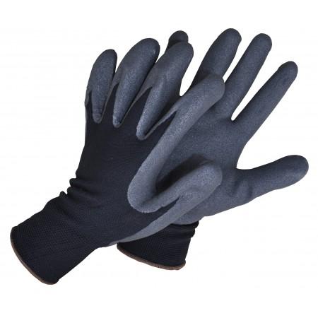 Pirštinės 1012S aplietos nitrilu pilkos/juodos