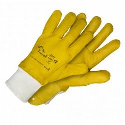 Pirštinės LISP geltonos odinės 10d