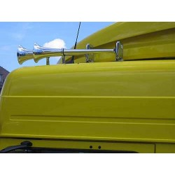 Sunkvežimio signalas H00856ECB HADLEY orinis chrom.48cm 24V be uždengimų