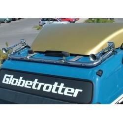 Halogenų laikiklis Hibar ant stogo Volvo Globetrotter FM Euro6