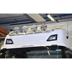 Aliumininis halogenų laikiklis TOP bar TRUX G24-7 Scania Highline 2017-