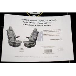 Sunkvežimio sėdynių užvalkalai Scania SERIA R 2013-pog.integ., su diržais Nr.138Vr