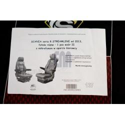 Sėdynių užvalkalai SCANIA R skirt.sėdyn.2013-pog.integ.,1diržas Nr.137su mikrof.