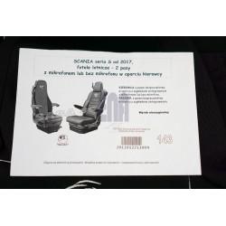 Sėdynių užvalkalai SCANIA S 2017- pog.integ.,2diržai Nr.143 su mikrof.