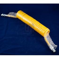 Spiralinė oro padavimo žarna geltona