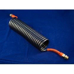 Sunkvežimio spiralinis pneum.silikon.kabelis juodas/raudonas