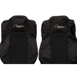 Odiniai sėdynių užvalkalai Elegance, MERCEDES ACTROS MP 4 VENTILATED DRIVER'S SEAT FOLDABLE PASSENGER SEAT (01.2011-)