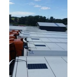 Solar saulės baterija 12V 1x110W 54x106cm