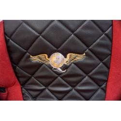 Sunkvežimio sėdynių užvalkalai DAF XF106 EURO 6 nuo 2013m. FX07 Elegance juod/raud 3056JR