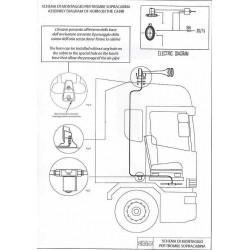 Sunkvežimio signalas 15A2132222 orinis 2tonų BEAM chrom.su laikikl.(B)
