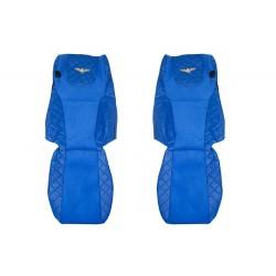 Sunkvežimio sėdynių užvalkalai DAF XF105 EURO 6 nuo 2013m. FX07 Elegance mėlyna