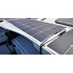 Scania stogo spoileris su 2x110W Solar bater., baltas