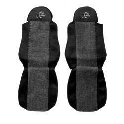 Sunkvežimio sėdynių užvalkalai DAF 95/105 CF LF -2012 Classic PS01 pilki