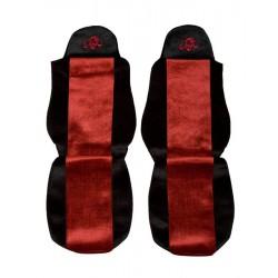 Sunkvežimio sėdynių užvalkalai DAF 95/105 CF LF -2012 Classic PS01 raudoni