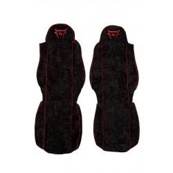 Sunkvežimio sėdynių užvalkalai veliūriniai MAN TGA CS03 raudona RGB
